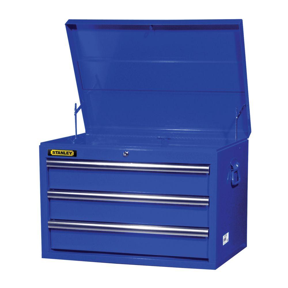 Coffre 27 po. à 3 tiroirs, bleu
