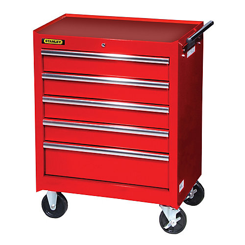 27 Inch 5 drawer Cabinet, Red