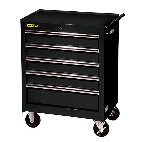 27 Inch 5 drawer Cabinet, Black