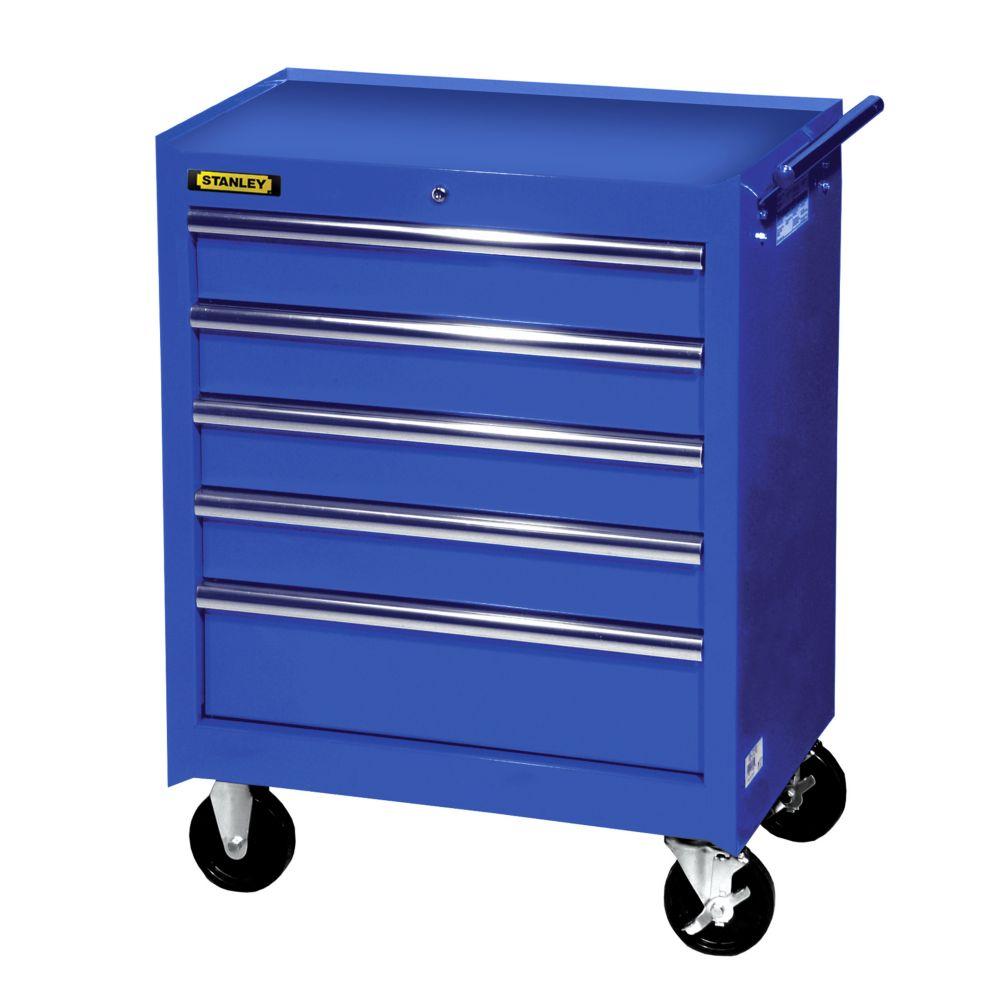 27 Inch 5 drawer Cabinet, Blue
