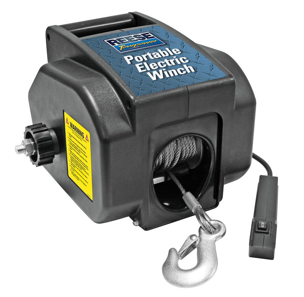 Electric Winch, 2,000 pound Capacity