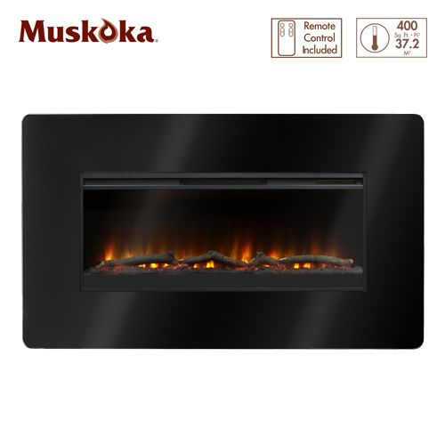 Muskoka 57 Inch Wall Mounted Electric Fireplace The Home Depot Canada