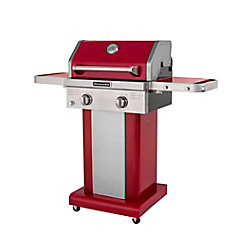 KitchenAid 2-Burner Patio Propane Gas BBQ in Red