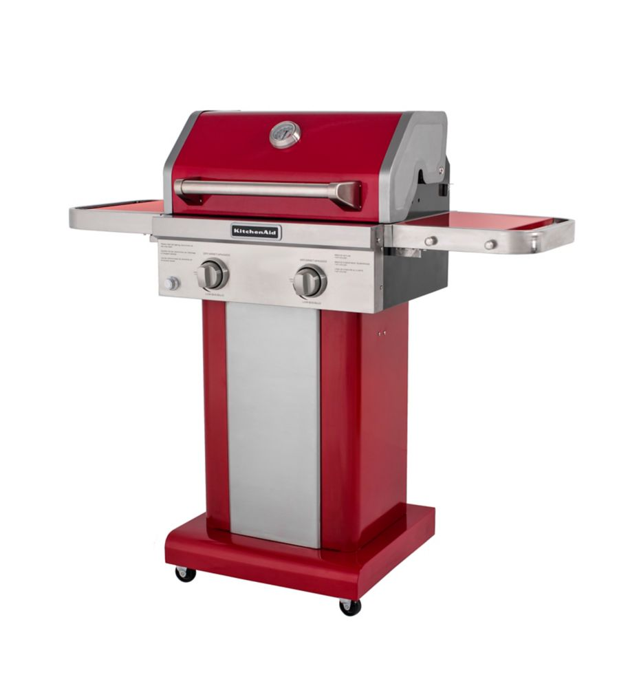 2-Burner Patio BBQ in Red