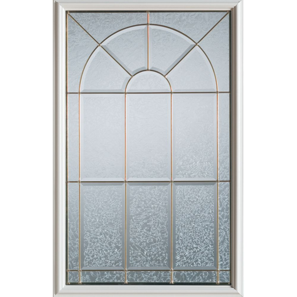 Stanley Doors 23 inch x 37 inch Elisabeth Zinc Caming 1/2 Lite Decorative Glass Insert