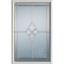 STANLEY Doors 23 inch x 37 inch Beatrice Zinc Caming 1/2 Lite Decorative Glass Insert