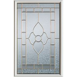 Stanley Doors 23 inch x 37 inch Marguerite Patina Caming 1/2 Lite Decorative Glass Insert