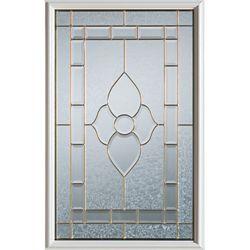 STANLEY Doors 23 inch x 37 inch Marguerite Zinc Caming 1/2 Lite Decorative Glass Insert