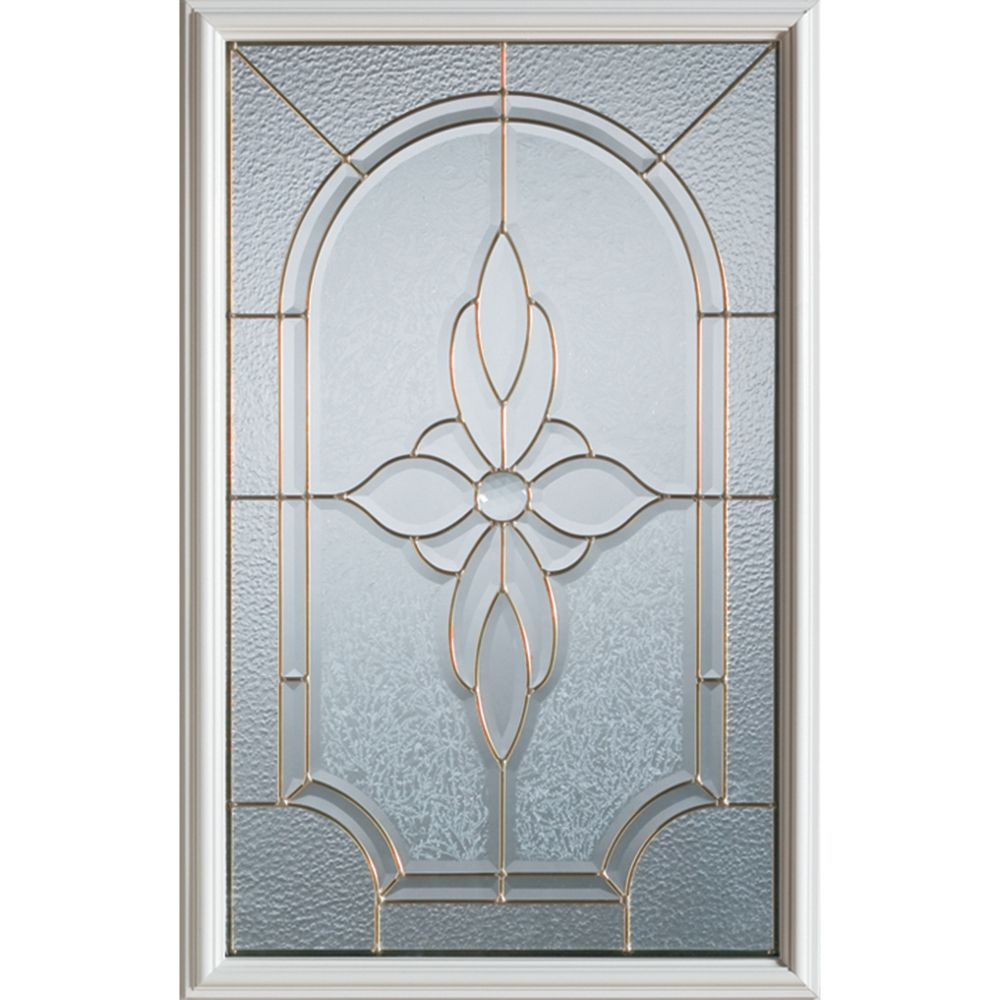 Traditional 1/2-Lite Decorative Glass Door with Zinc Caming