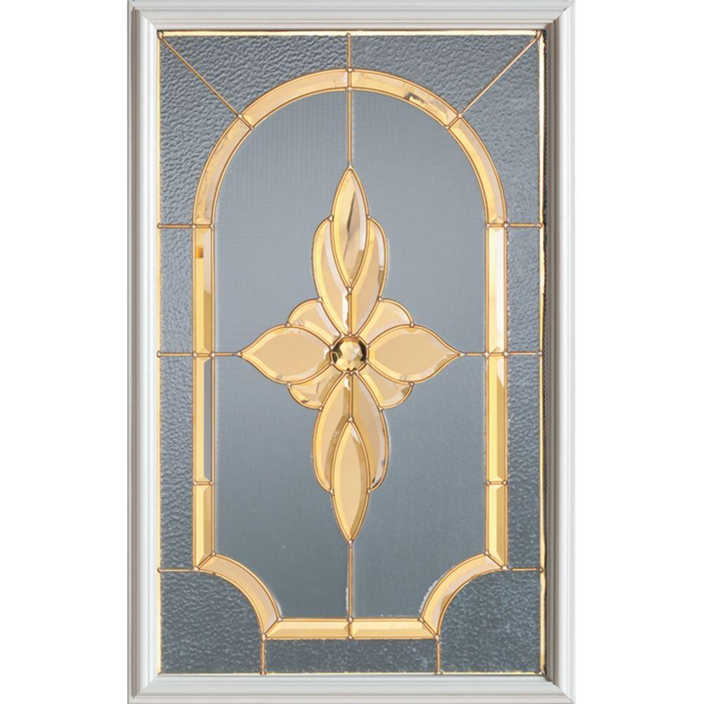 Demi-verre décoratif Traditional avec baguettes en brass