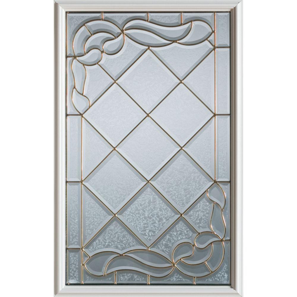 Demi-verre décoratif Art Deco avec baguettes en laiton