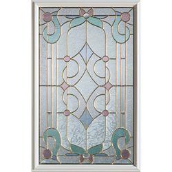 STANLEY Doors 23 inch x 37 inch Aristocrat Brass Caming 1/2 Lite Decorative Glass Insert