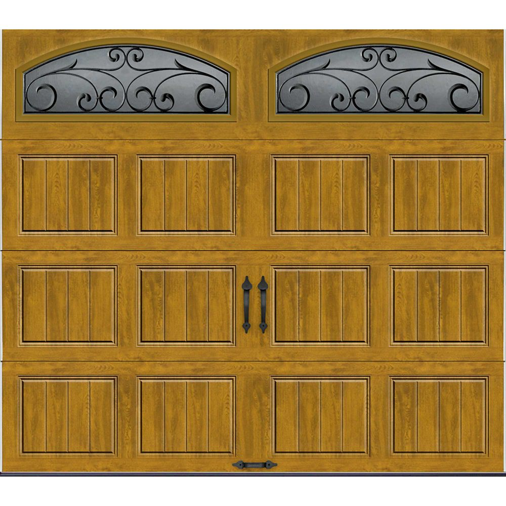 Gallery Collection 8 ft.x7 ft. Intellicore Insulated Medium Garage Door with Decorative Window