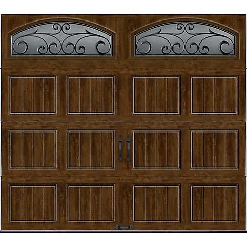 Clopay Gallery Collection 8 Ftx7 Ft Intellicore Insulated Walnut