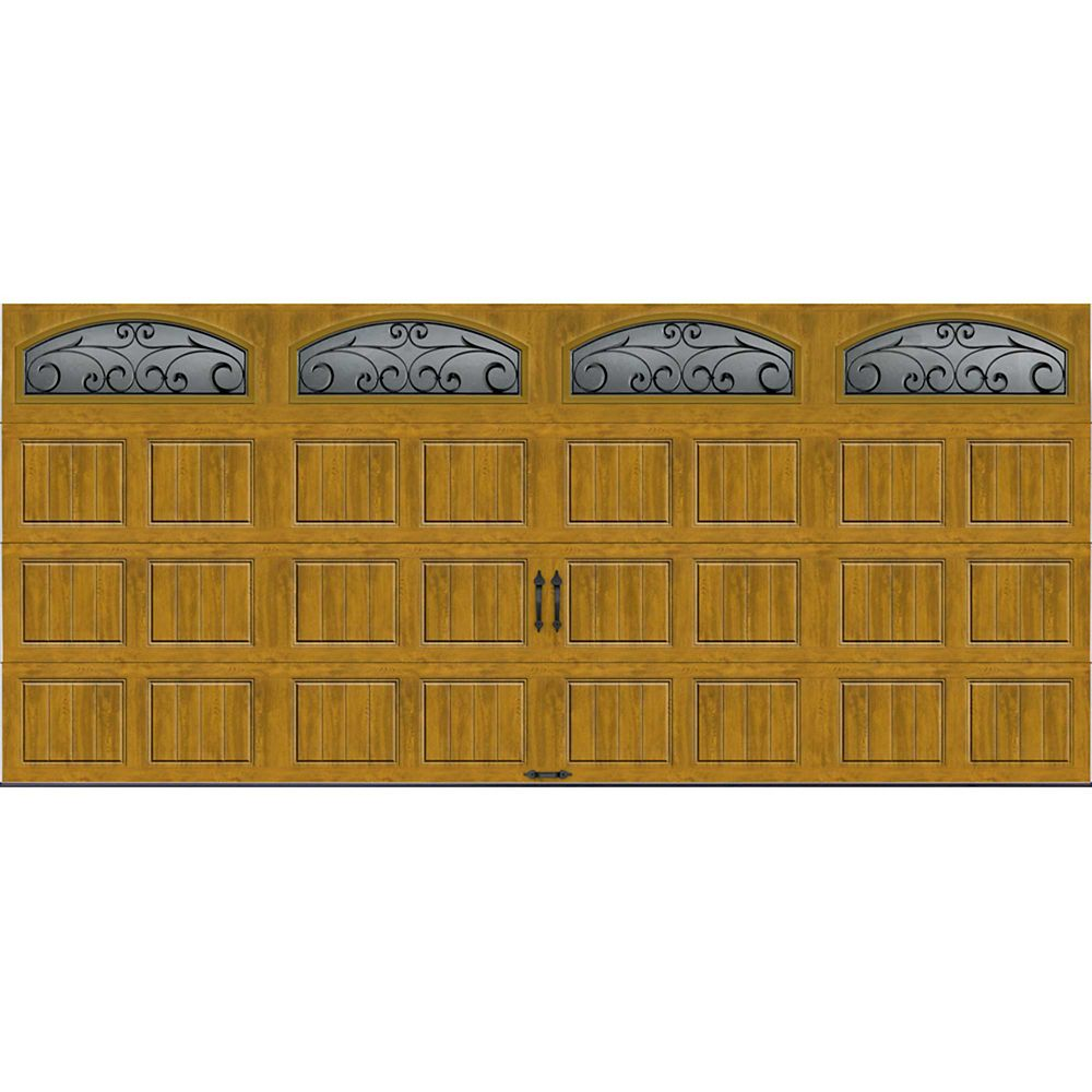 Gallery Collection 16 ft. x 7 ft. Intellicore Insulated Medium Garage Door with Windows