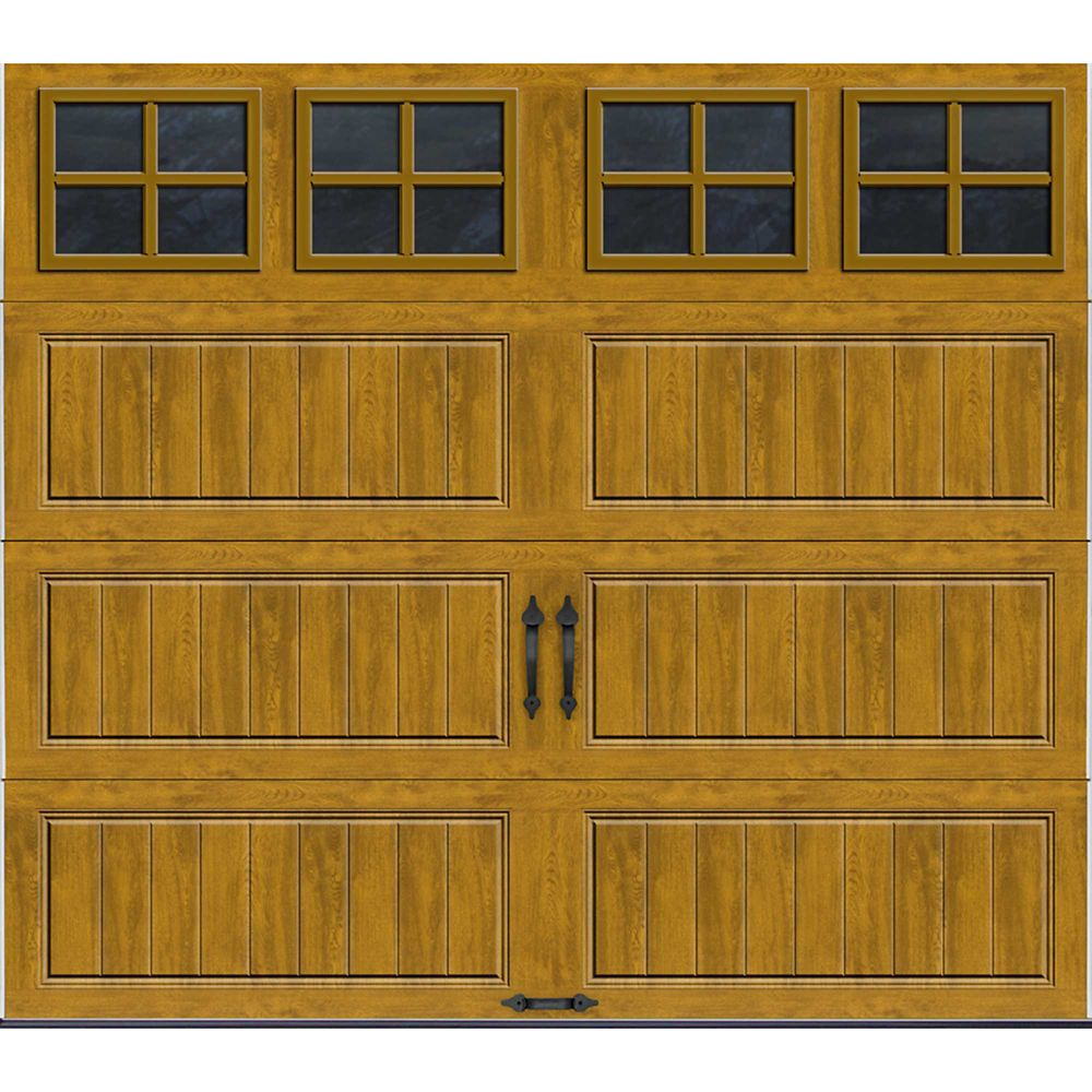 Gallery Collection 8 ft. x 7 ft. Intellicore Insulated Medium Garage Door with SQ22 Window