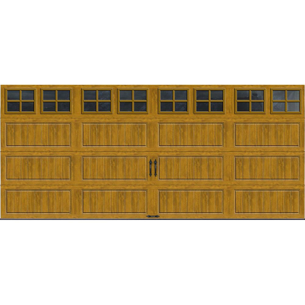 Gallery Collection 16 ft. x 7 ft. Intellicore Insulated Medium Garage Door with SQ22 Window