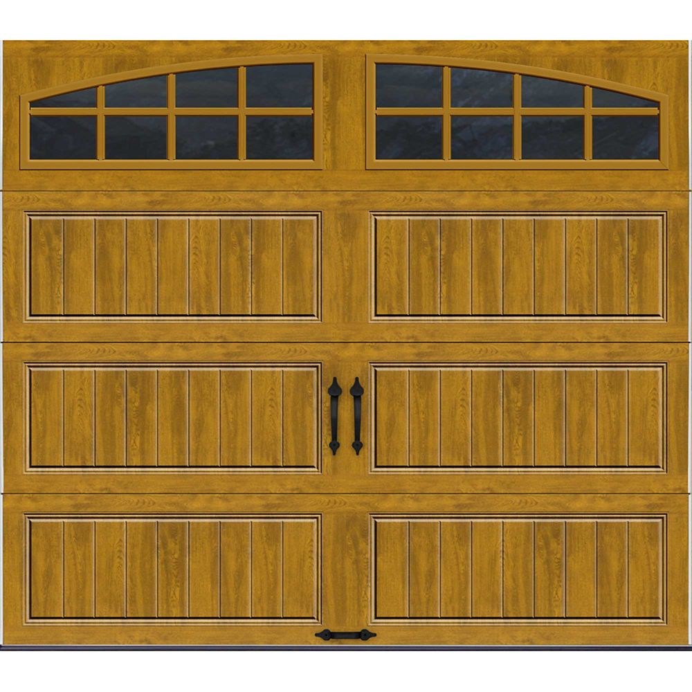 Gallery Collection 8 ft. x 7 ft. Intellicore Insulated Medium Garage Door with Arch Window