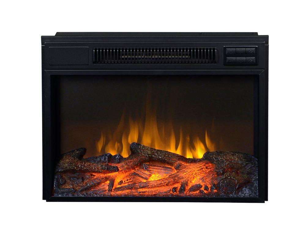 24 In. Wide Firebox Insert in Black