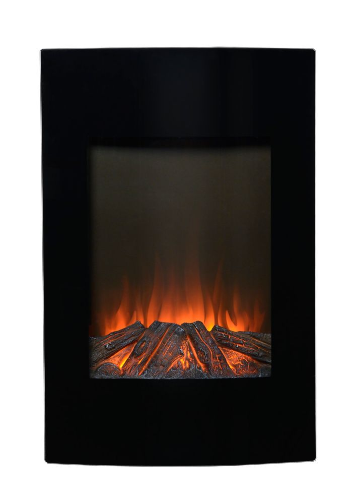35 In. High Wall Mount Firebox in Black