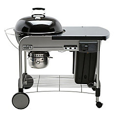 Performer Deluxe 22-inch Charcoal BBQ in Black with Steel Cart