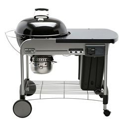 Weber Performer Deluxe 22-inch Charcoal BBQ in Black with Steel Cart