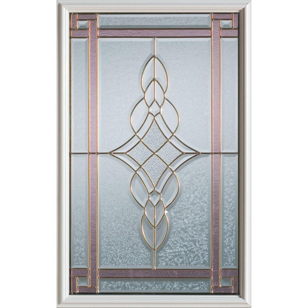 Demi-verre décoratif Art Deco avec baguettes en patine