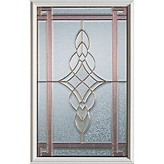 23 inch x 37 inch Milano Patina Caming 1/2 Lite Decorative Glass Insert