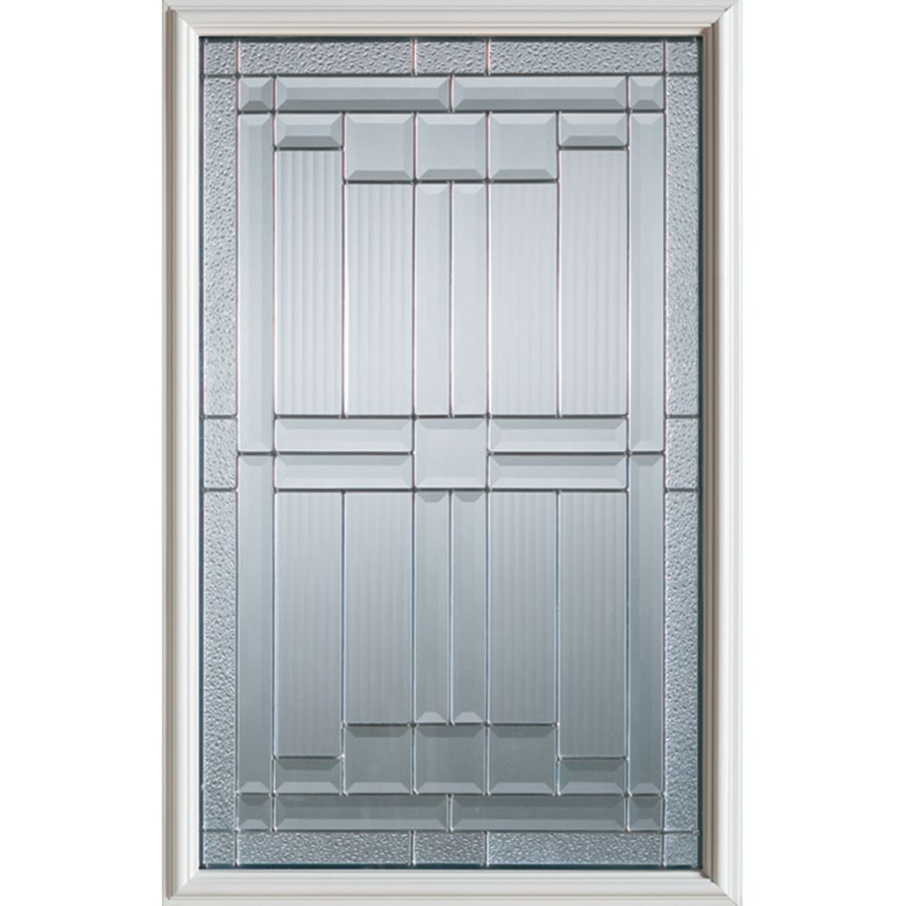 Architectural 1/2-Lite Decorative Glass Door with Patina Caming
