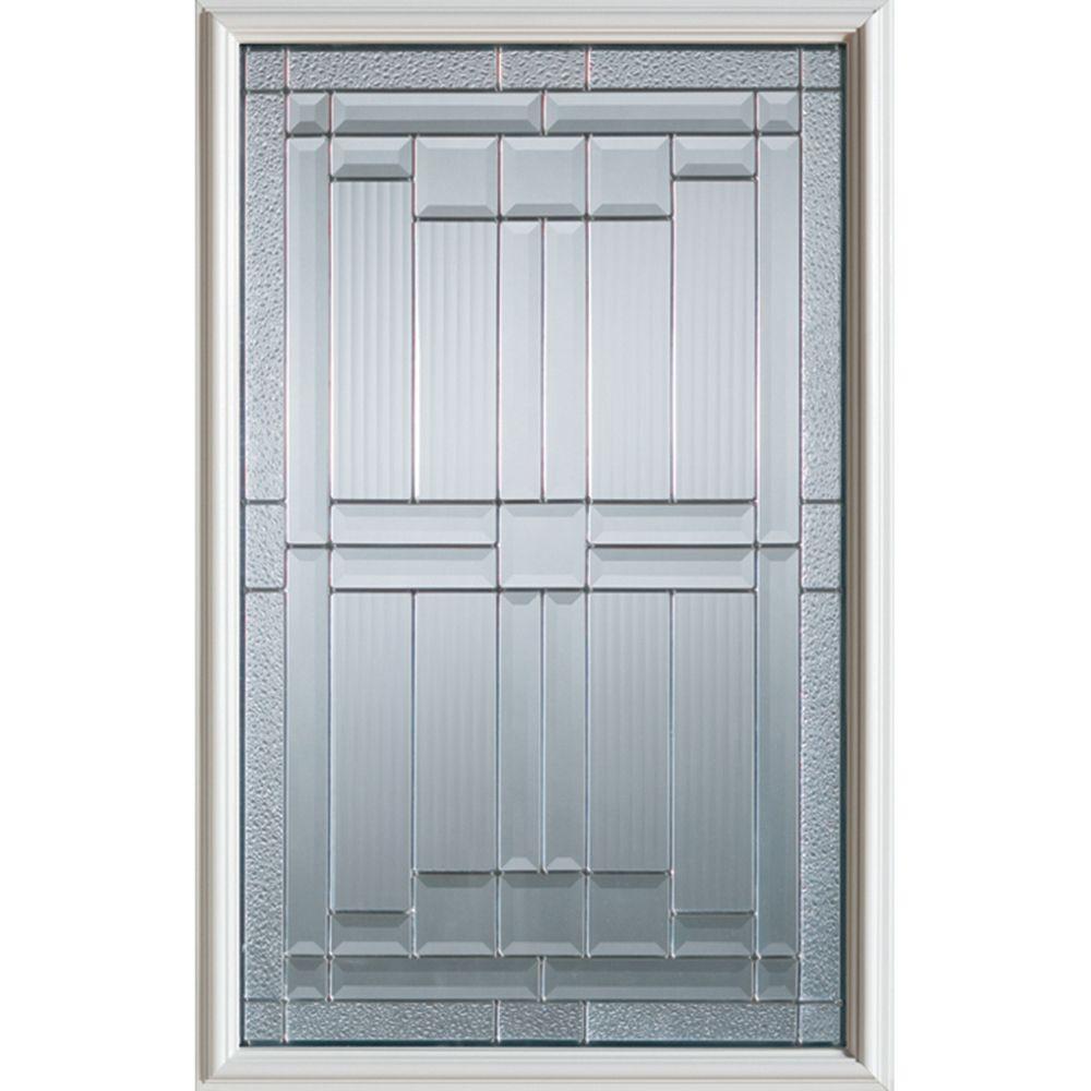 Demi-verre décoratif Architectural avec baguettes en zinc