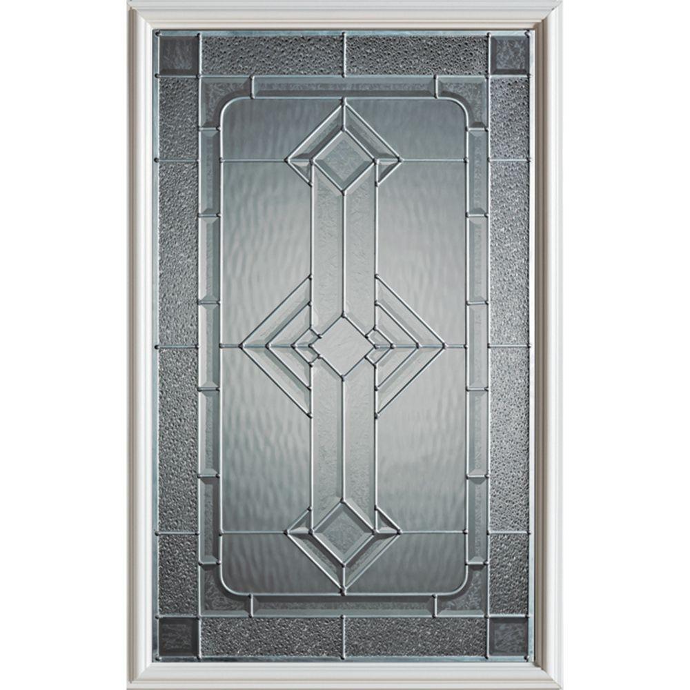 Neo-Deco 1/2-Lite Decorative Glass Door with Zinc Caming