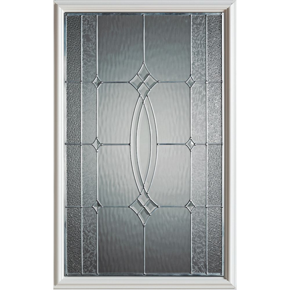 Diamanti Classic 1/2-Lite Decorative Glass Door with Brass Caming