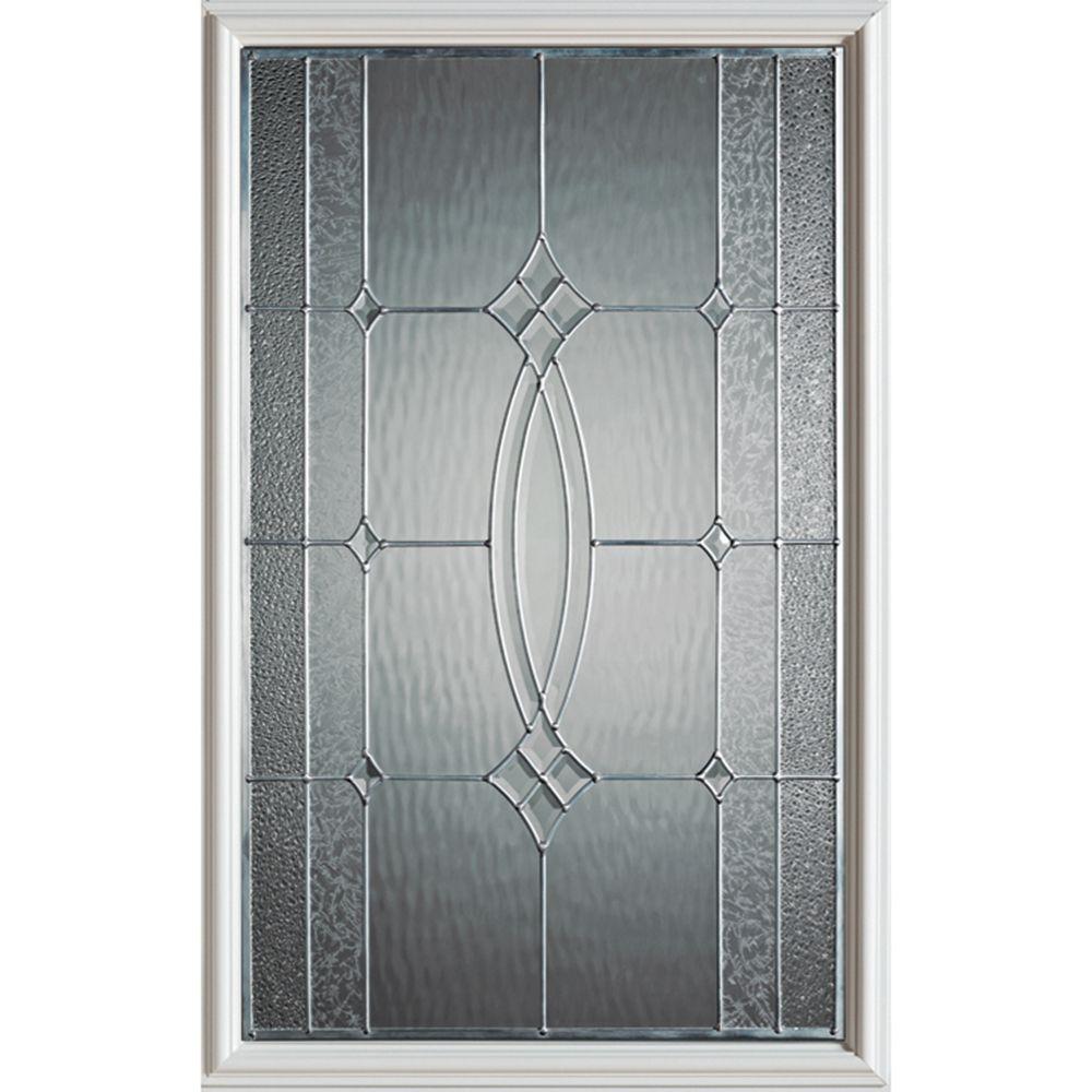 Stanley Doors 23 inch x 37 inch Diamanti Brass Caming 1/2 Lite Decorative Glass Insert