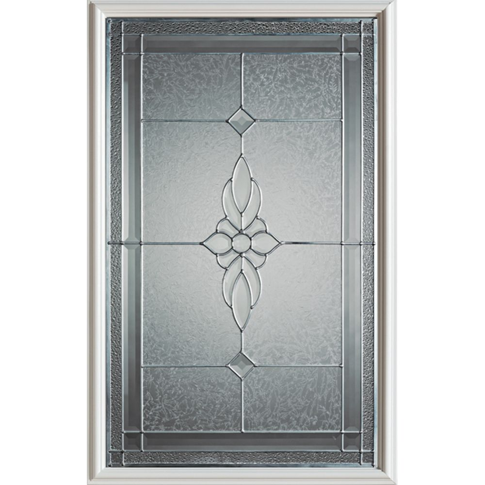 Victoria Classic 1/2-Lite Decorative Glass Door with Zinc Caming