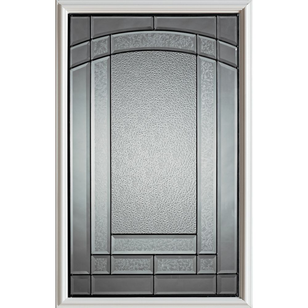 Chatham 1/2-Lite Decorative Glass Door with Patina Caming