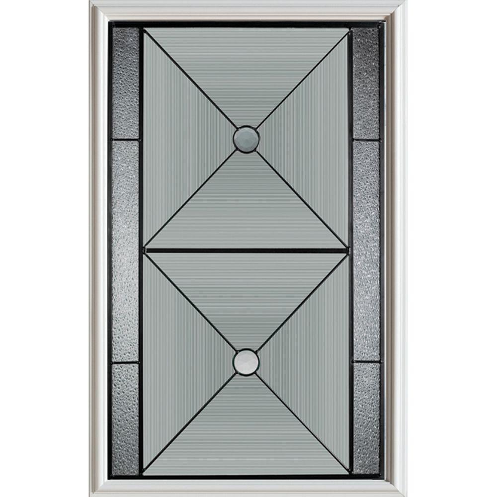 Bellochio 1/2-Lite Decorative Glass Door with Patina Caming