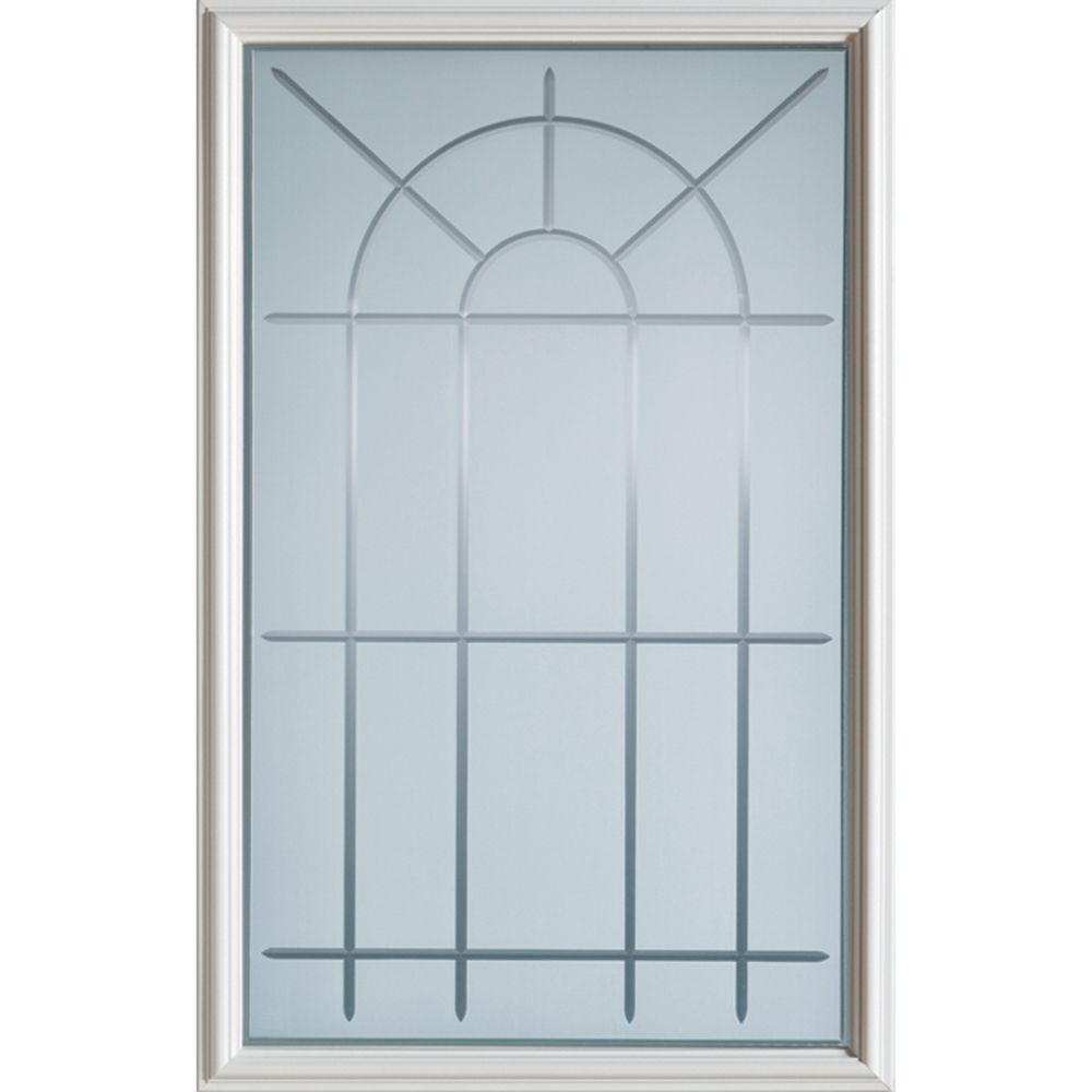 Demi-verre décoratif avec verre à rainure en V