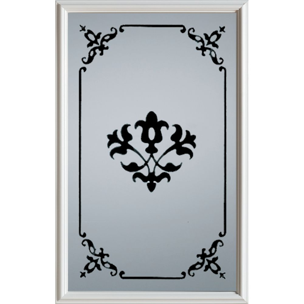 Silkscreened 1/2-Lite Decorative Glass Door