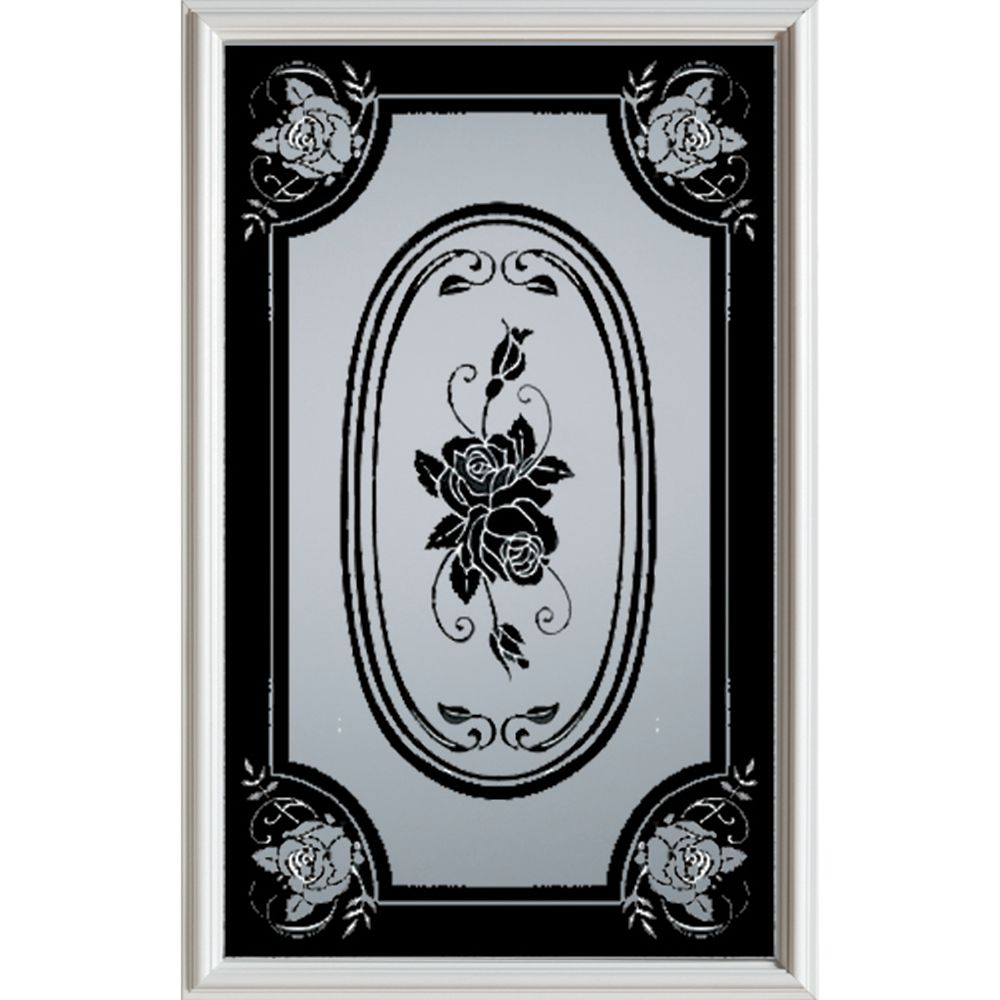 Silkscreened 1/2-Lite Decorative Glass Door