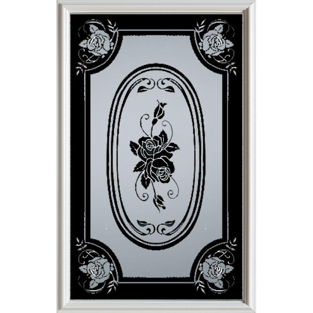 Stanley Doors 23 inch x 37 inch Mâtisse 1/2 Lite Decorative Glass Insert