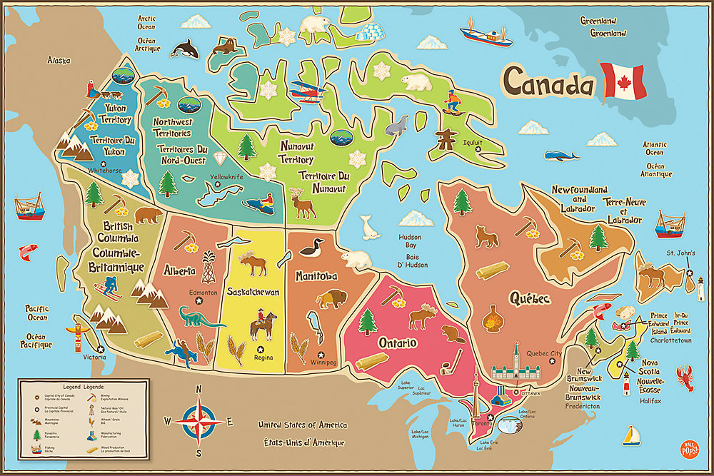 WallPops Kids Canada Dry Erase Map Decal | The Home Depot Canada on