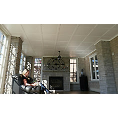 Kit 64 sq.ft. 2.5-inch X 6.5-inch X 96-inch Ceiling Tiles in White (16-Pack)