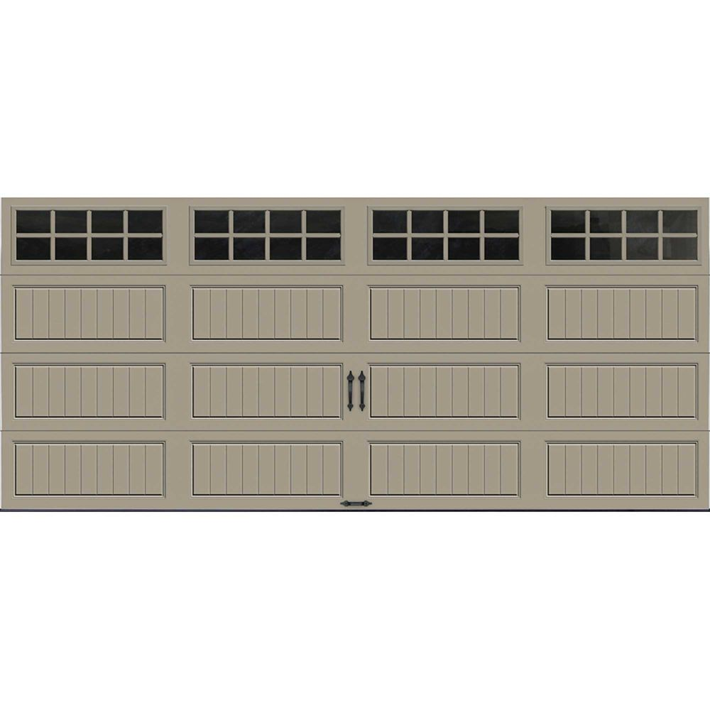 Gallery Collection 16 ft. x 7 ft. Intellicore Insulated Sandstone Garage Door with SQ24 Window
