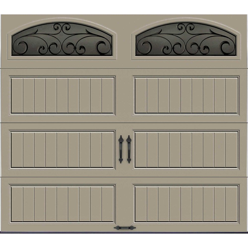 Gallery Collection 8 ft. x 7 ft. Intellicore Insulated Sandstone Garage Door with Window