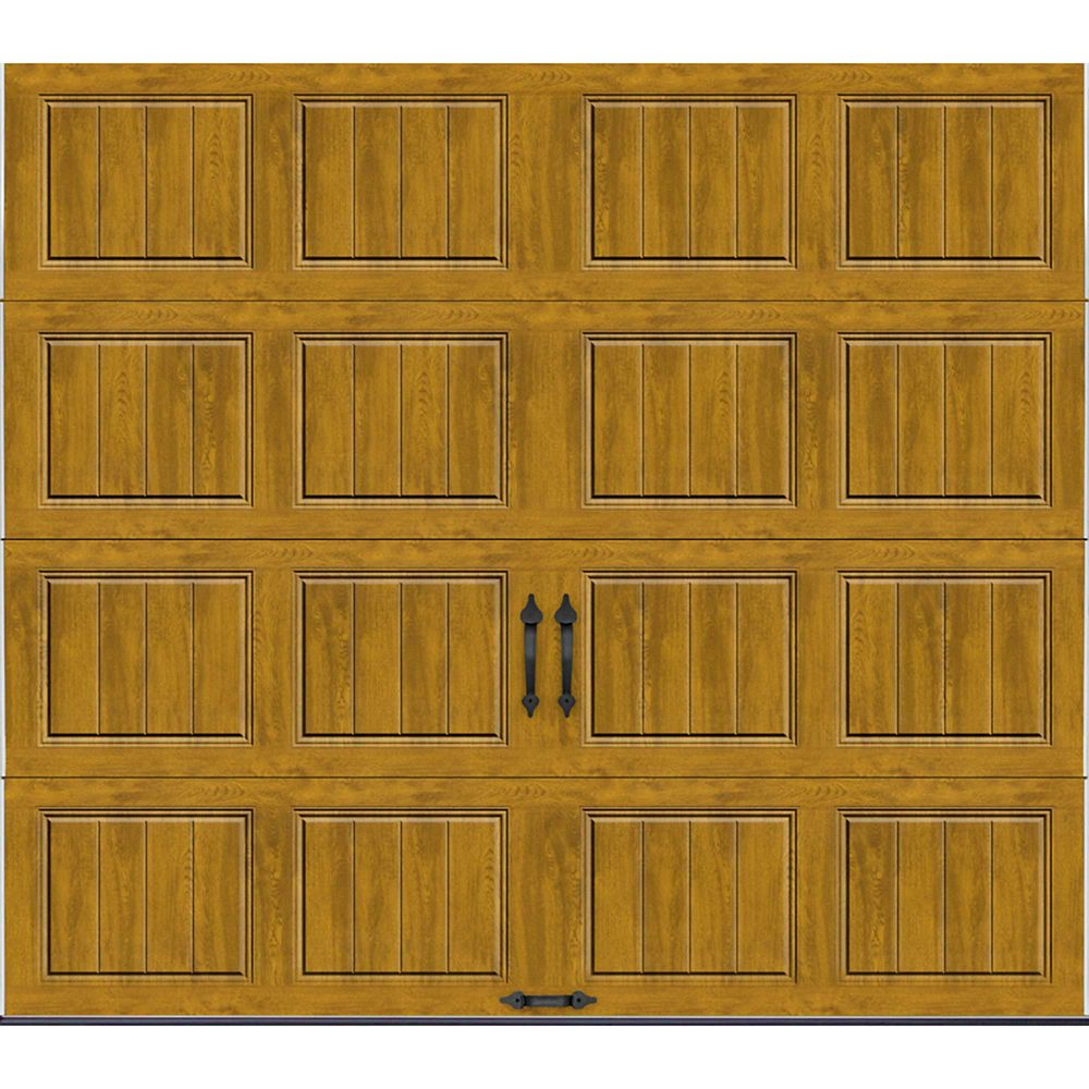 Gallery Collection 8 ft. x 7 ft. Intellicore Insulated Solid Ultra-Grain Medium Garage Door