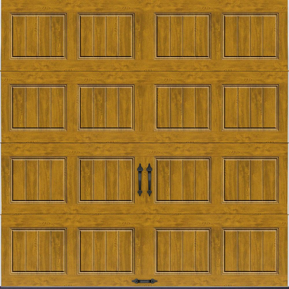 Gallery Collection 8 ft. x 8 ft. Intellicore Insulated Solid Ultra-Grain Medium Garage Door