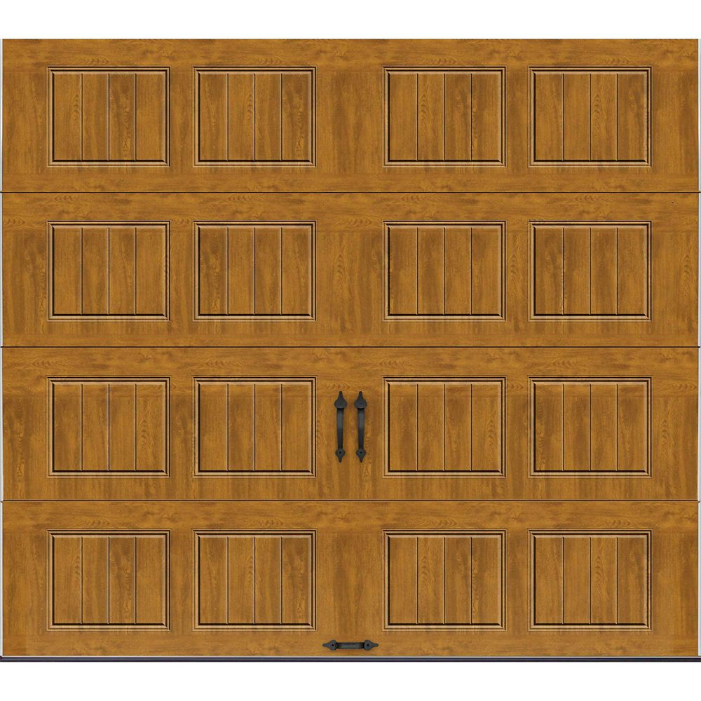 Gallery Collection 9 ft. x 8 ft. Intellicore Insulated Solid Ultra-Grain Medium Garage Door