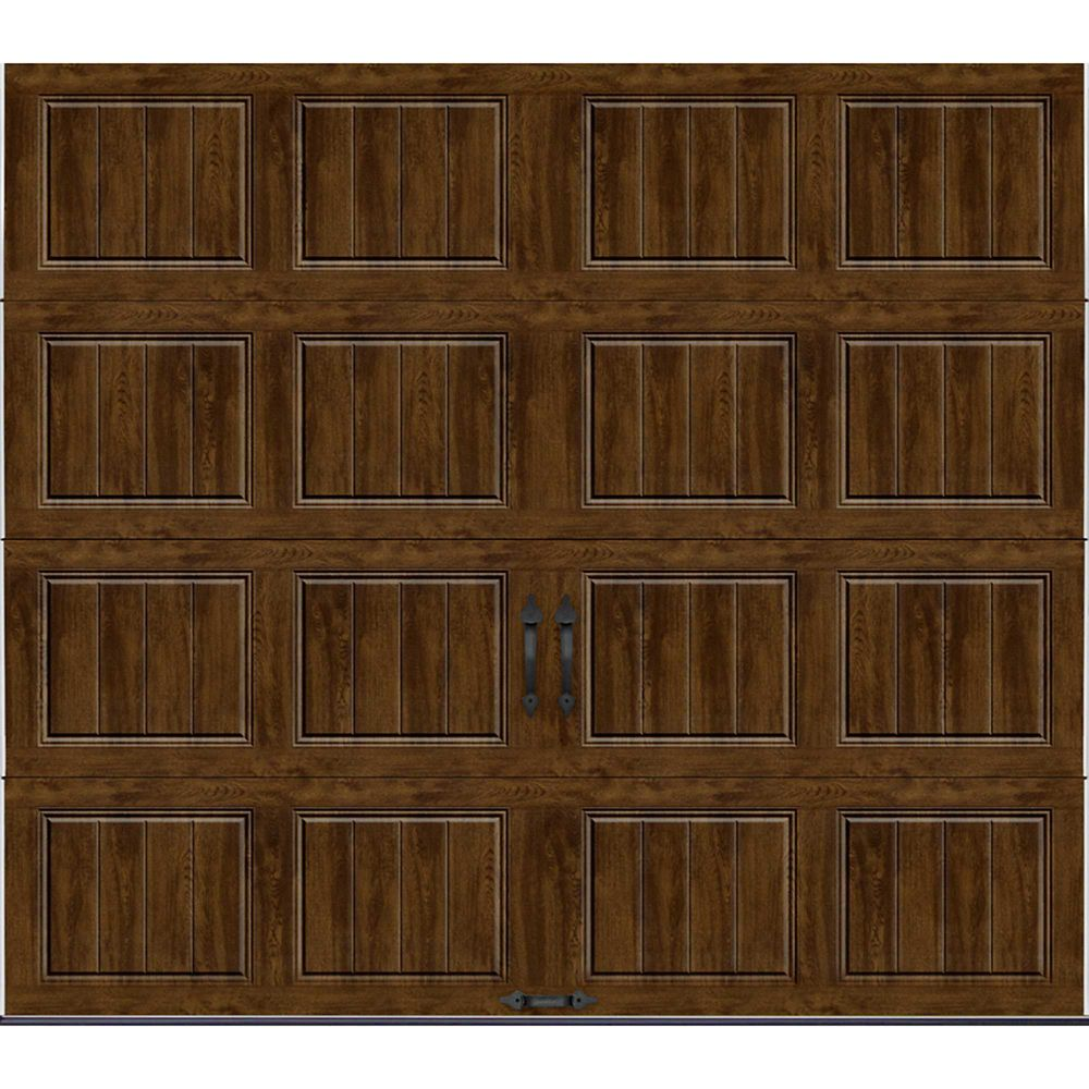 Gallery Collection 8 ft. x 7 ft. Intellicore Insulated Solid Ultra-Grain Walnut Garage Door