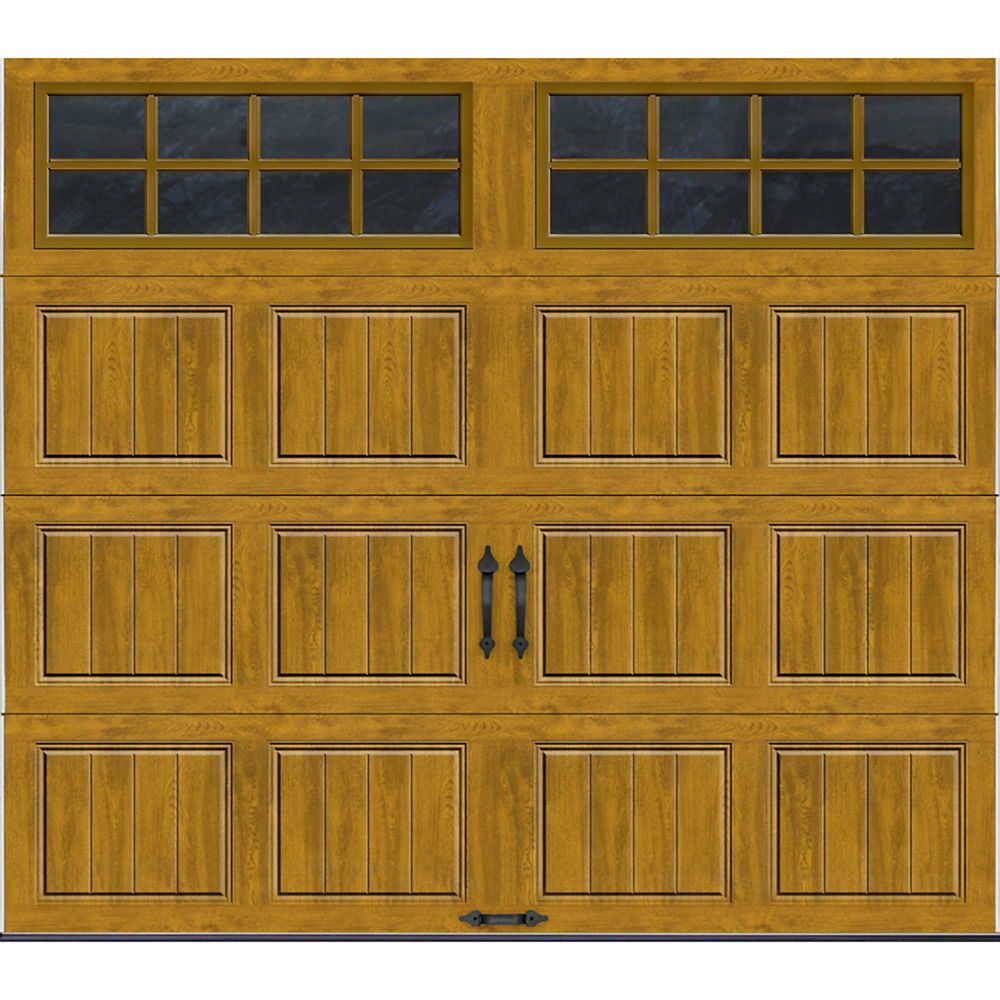 Gallery Collection 8 ft. x 7 ft. Intellicore Insulated Medium Garage Door with SQ24 Window