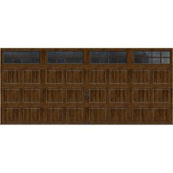 Clopay Gallery Collection 16 ft. x 7 ft. Intellicore Insulated Walnut Garage Door with SQ24 Window